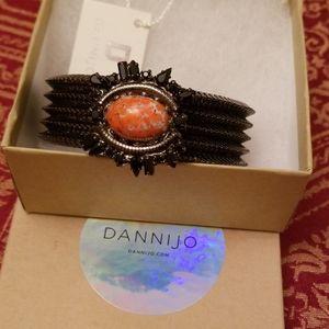 Dannijo bracelet with orange/black stones